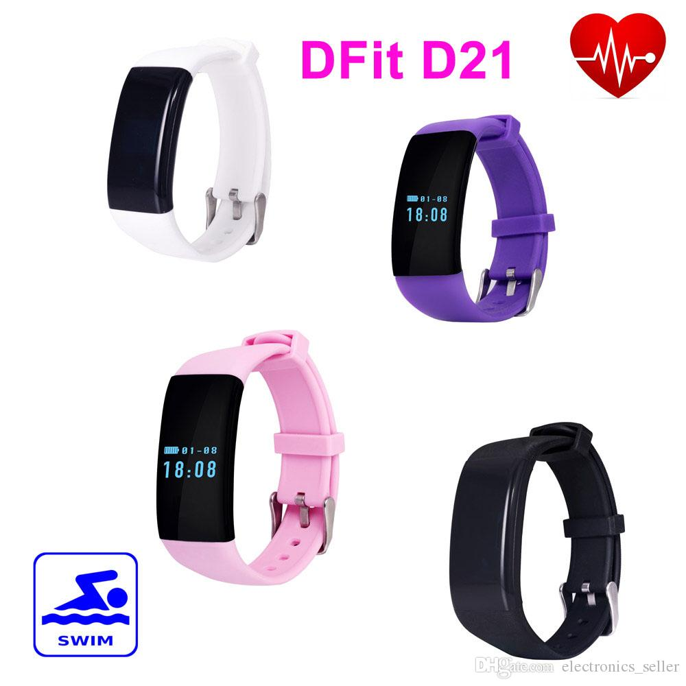 4fba8fab083 Dfit D21 Smart Bracelet Wristband Bluetooth IP68 Waterproof Heart ...