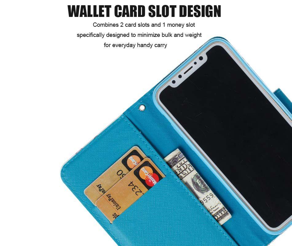 3D مطبوعة طيور النحام يونيكورن حامل بطاقة المحفظة فليب حامل حقيبة جلد لآيفون XS ماكس XR 8 7 6 زائد سامسونج S8 S9 S10E زائد ملاحظة 8 9