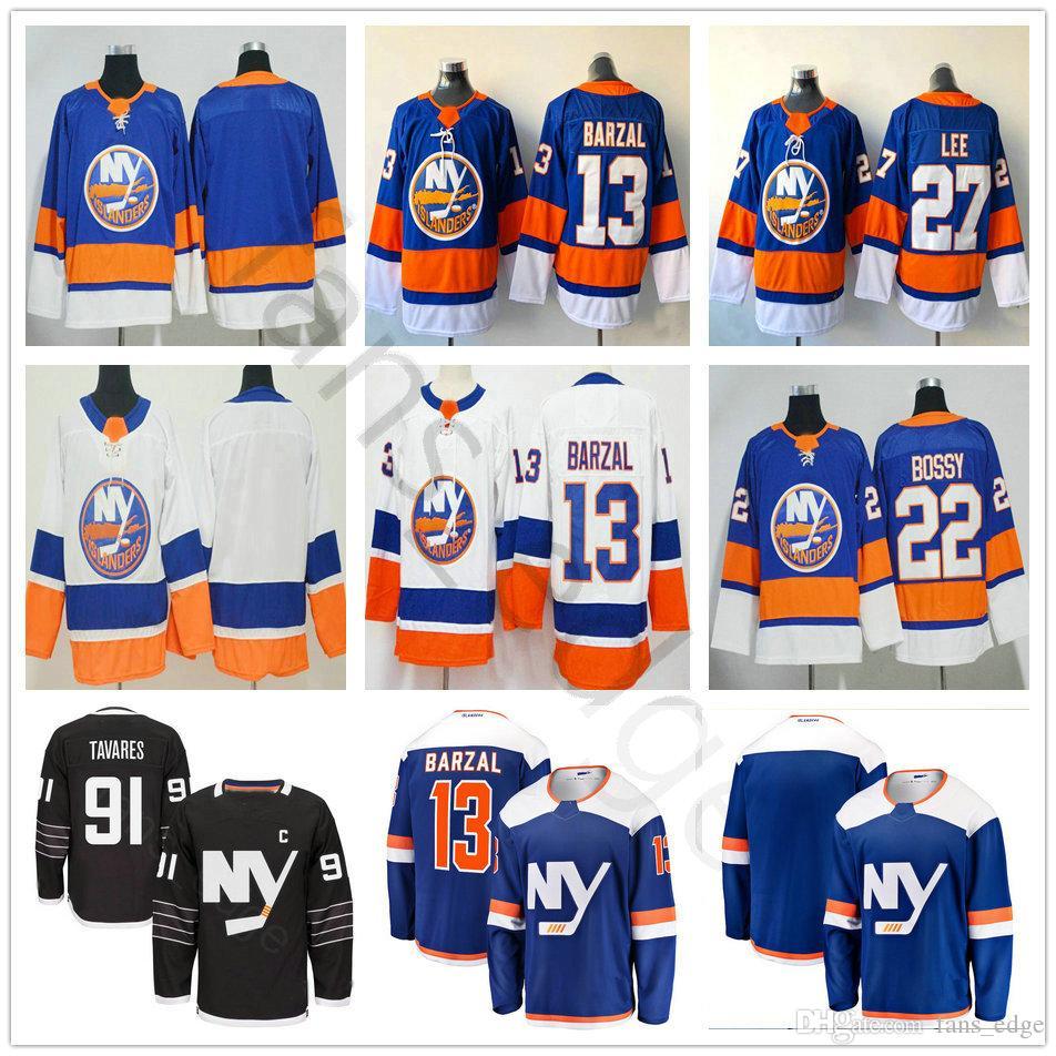 new arrival 61a4f 96ca1 2019 New Alternate Third Blue New York Islanders Hockey 13 Mathew Barzal 27  Anders Lee Jerseys 22 Mike Bossy #91 John Tavares Jersey