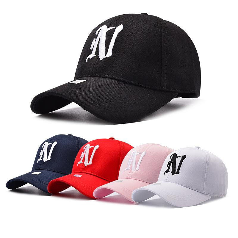 N Letter Embroidery Brand Baseball Cap Snapback Caps Sports Leisure Hats  Fitted Casual Gorras Dad Hats For Men Women Fitted Caps Black Baseball Cap  From ... bab64e730847