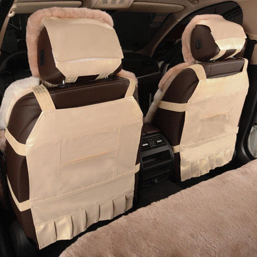 KAWOSEN Australian Sheepskin Fur Seat Cover Super Warm Universal Car Wool Covers Auto Cushion WSCP02 Infant Seats