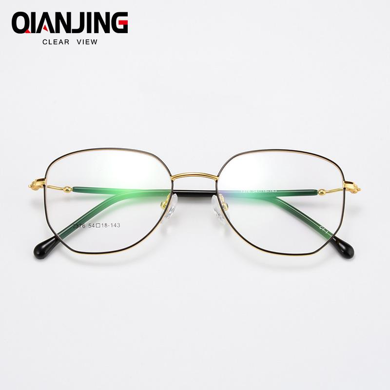 47e64ace3 2019 QIANJING Brand Quality Eye Frames Retro Big Circle Eyeglasses Female  Male Prescription Glasses Alloy Full Rimmed Round Glasses From Gocan, ...