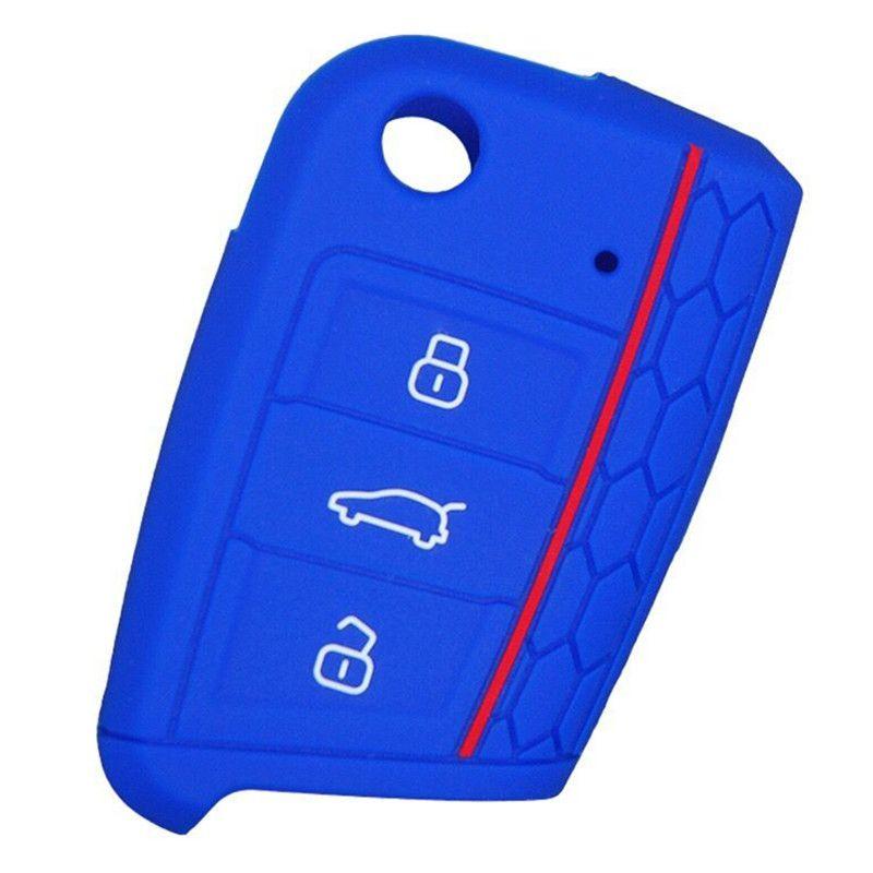Silicone Car Key Case Key Bag Key Cover For Volkswagen VW Golf 7 Skoda Octavia A7