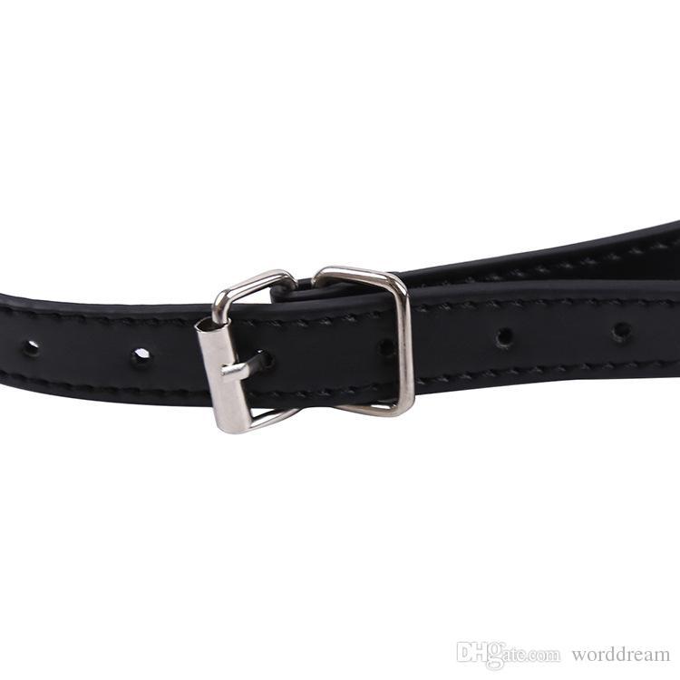 Metal O-ring Mouth Gag Plug Bondage Slave Restraints Leather Belt In Adult Games For Couples Fetish Oral Sex Toys For Women Men - HS81