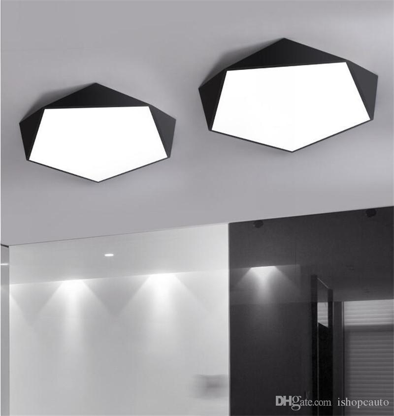 Salon Éclairage Géométrique Balcon Plafonnier Led Salle À Plafonniers Absorption D Manger Lampe Super Mince 5cm Pour Maison 2IeEDHW9Y