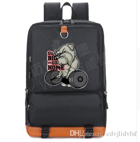 af3cf0389380 2018 Tiger Head Bullfight Dog Big Backpack Tide Bag Students  Schoolbag  Male Female Shoulder Travel Bag Teenage Girl Backpacks Jansport Backpacks  School …
