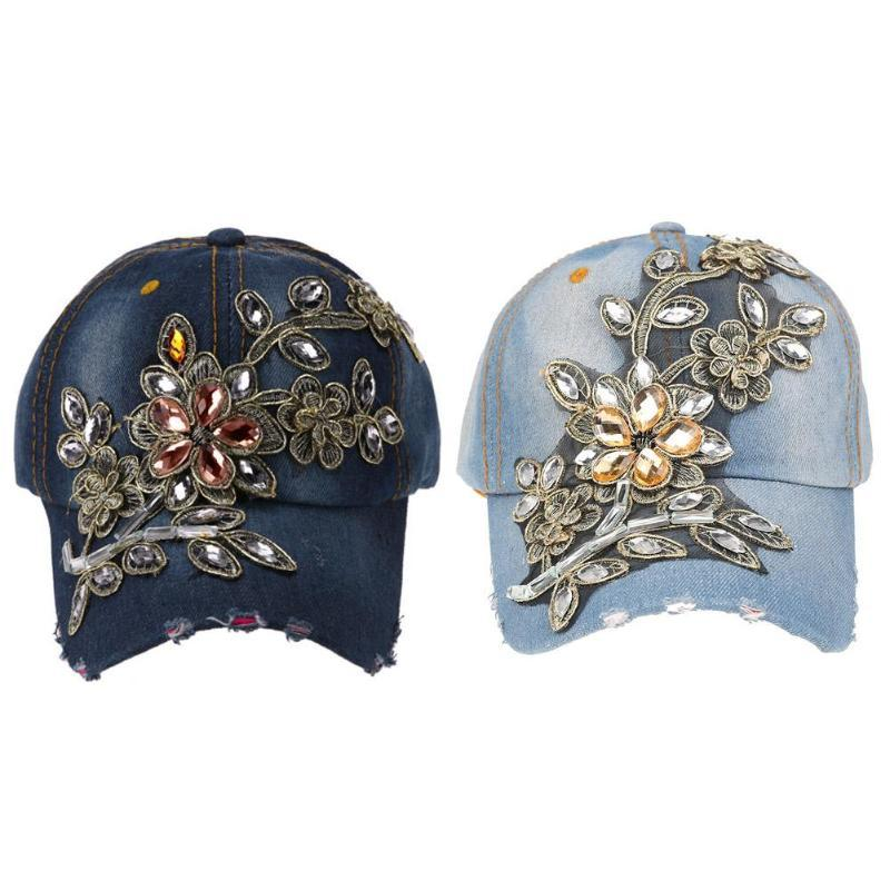 a8c8963ad2954 Cowboy Baseball Cap Women Summer Casual Snapback Hat Casquette Homme Letter  Embroidery Gorras Women Summer Flower Cap Baseball Caps Cheap Baseball Caps  ...