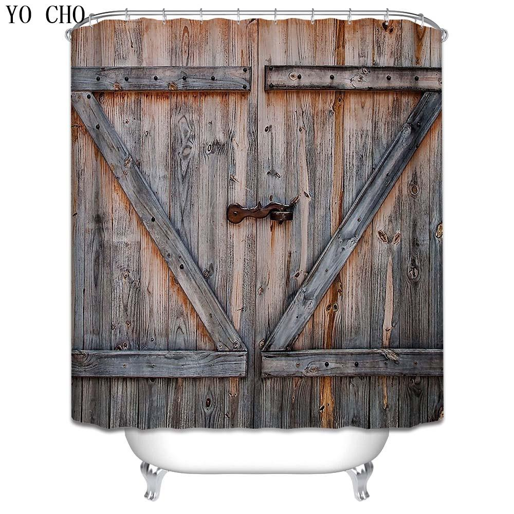 Wood Modern Unique Shower Curtain 3d Bath Hooks Polyester Fabric Christmas Vintage Waterproof Funny Bathroom UK 2019 From Hariold