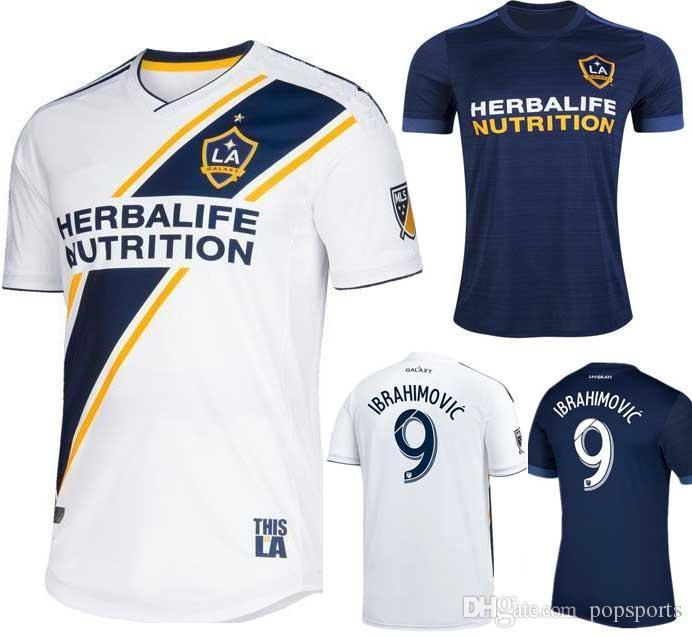 2019 LA Galaxy Soccer Jersey 2018 IBRAHIMOVIC 18 19 Los Angeles Galaxy  Camisa GERRARD GIOVANI BECKHAM J.DOS SANTOS KAMARA JONES Maillot De Foot  From ... 7adafe204