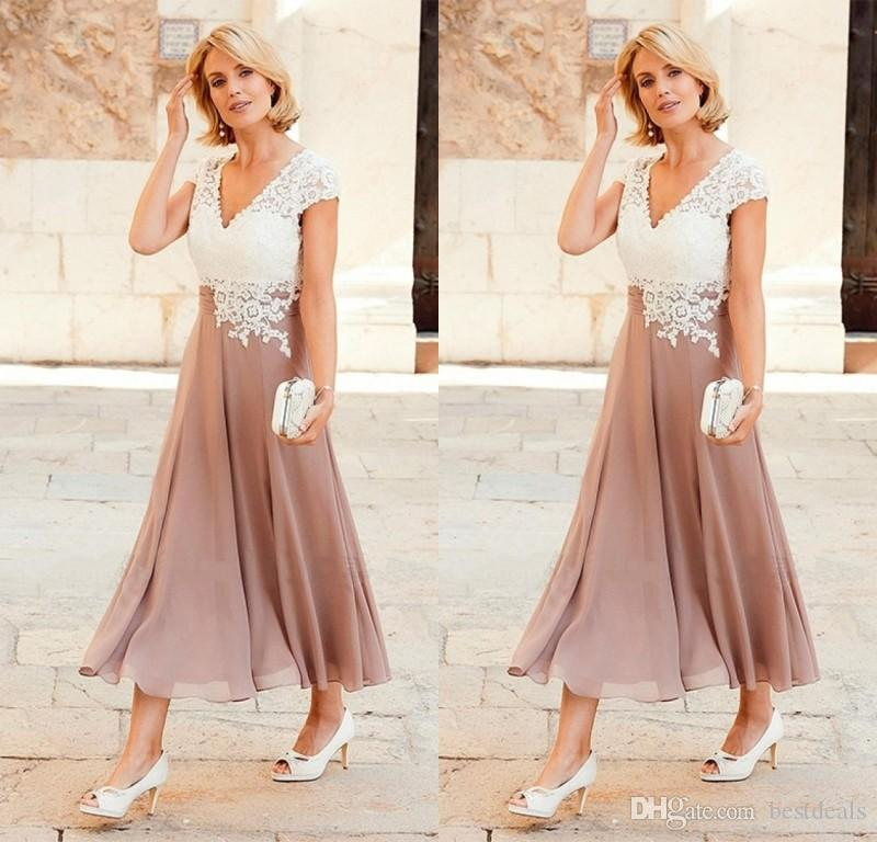 Tea Length Plus Size Dresses for Wedding Guests