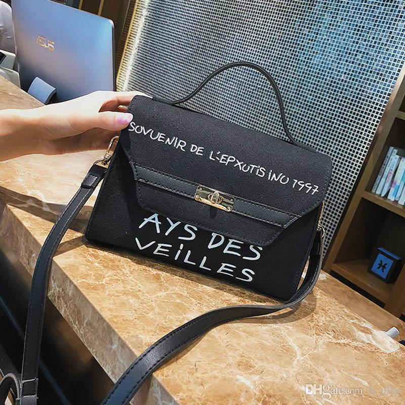 68dc1e7a4d Summer 2018 New Fashion Women s Bag Trend Leisure Handbag Canvas ...