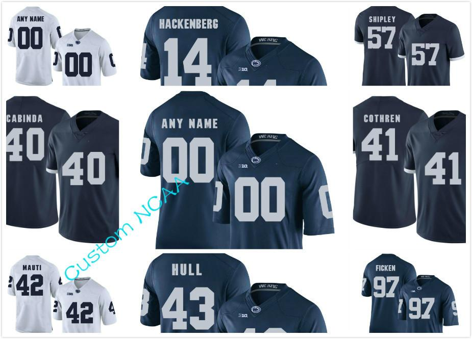 Custom NCAA Penn State Nittany Lions College Football Jerseys Connor  McGovern Jake Cooper Miles Sanders Curt Warner LENNY MOORE PSU Jersey UK  2019 From ... a91552aa3