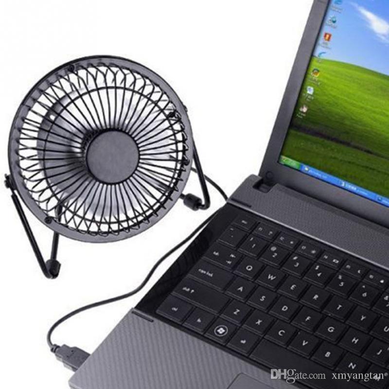 Tragbare kleine Schreibtisch USB 4 Klingen Kühler Lüfter USB Mini Fans Operation Super Mute Leise für PC / Laptop / Notebook