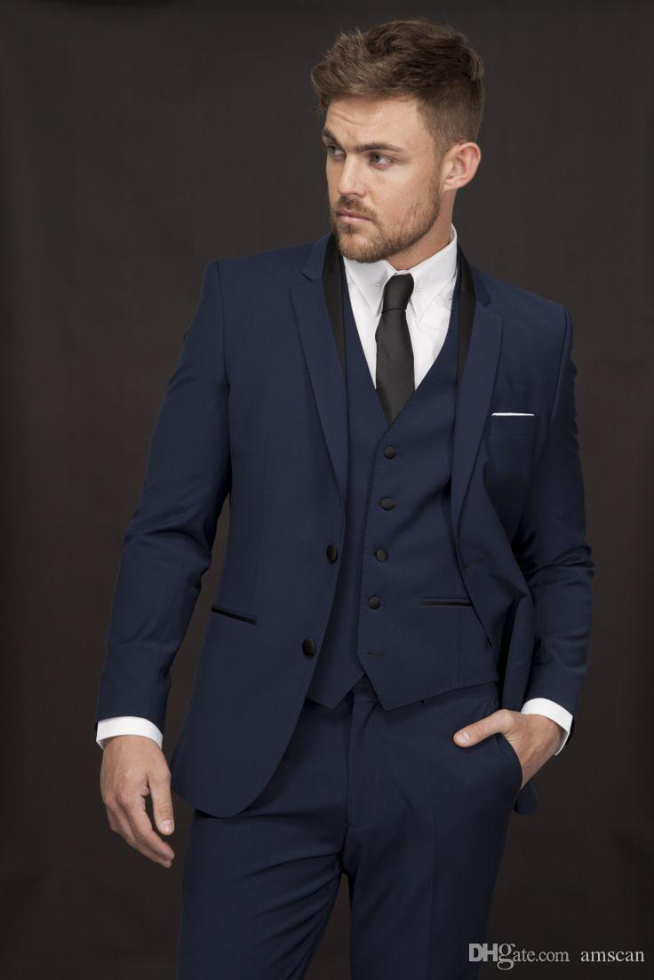 2018 New Fashion Custom Made Groom Tuxedos Groomsmen Slim Fit Best Man Suit  Wedding Men S Suits Bridegroom Groom Wear Jacket+Pants Mens Tux Shirt Mens  Tux ... 8a2999f6d111