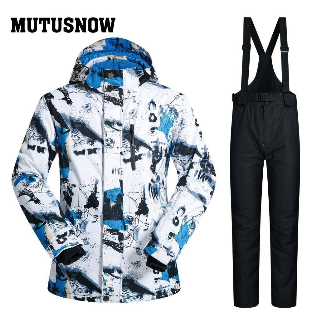 MUTUSNOW New Outdoor Ski Suit Men Windproof Waterproof Thermal ... 5a3b76af6