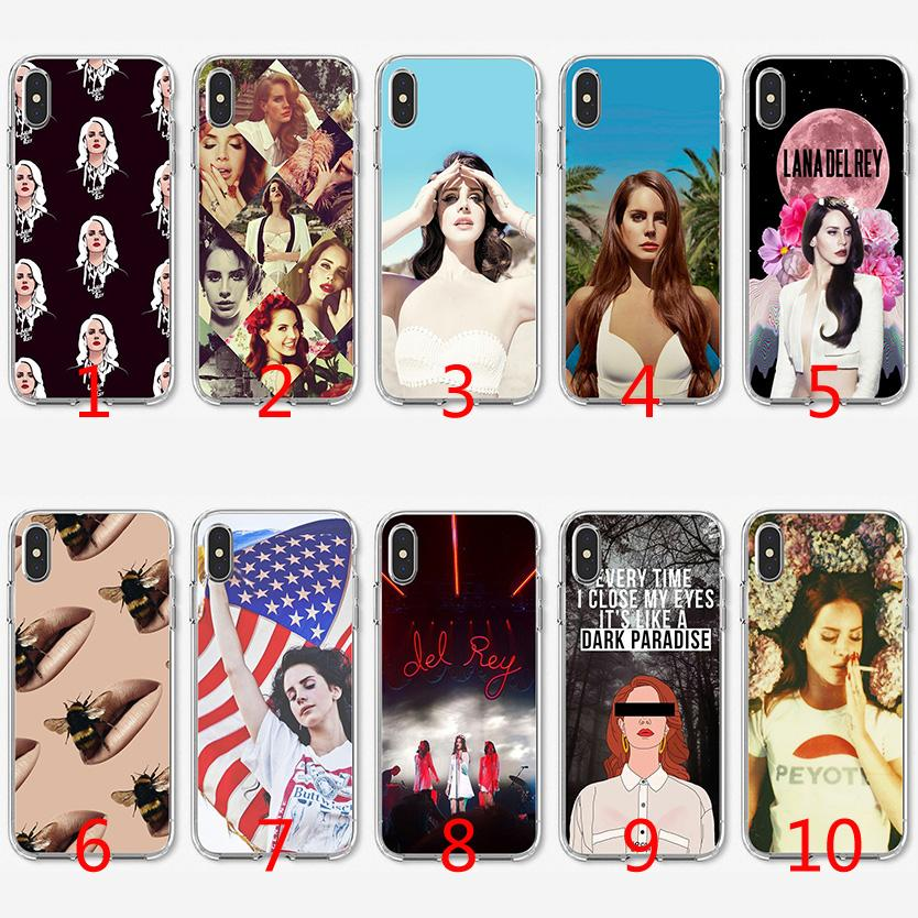Lana Del Rey sexy Singer Soft Silicone TPU Case for iPhone X XS Max XR 8 7  Plus 6 6s Plus 5 5s SE Cover