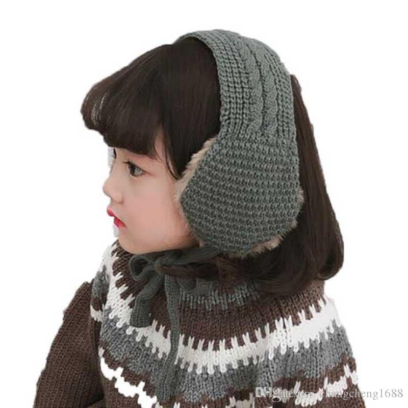 0a72b03c774 Fashion Winter Warm Earmuffs Kids Girl Boy Knitted Earflap 2018 Plus Velvet  Soft Ear Shield With Scarf Child Accessories WJ8588 Online with  4.35 Set  on ...