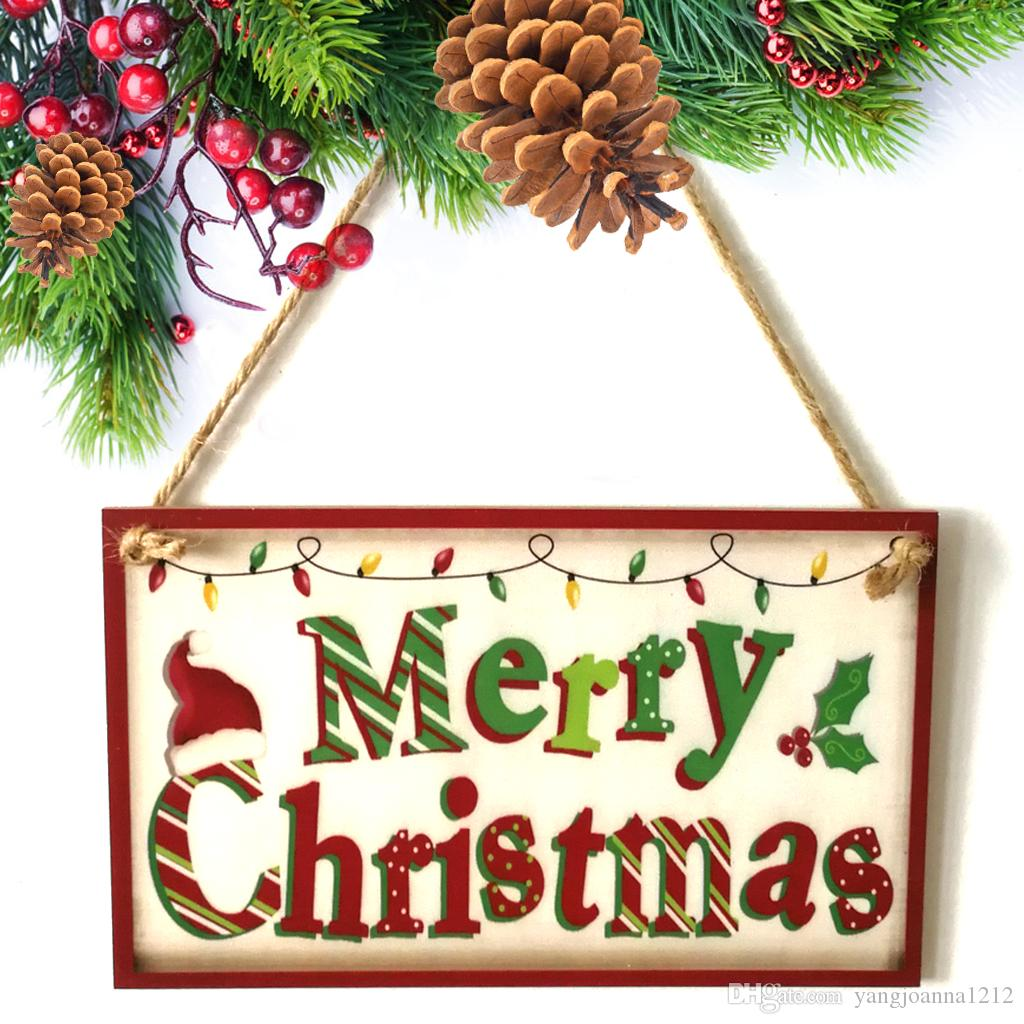 Wholesale Wooden Merry Christmas Hanging Board Home School Family ...