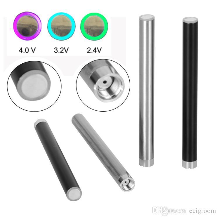 510 rosca Mix2 pré bateria de calor óleo Grosso bateria sem botão Para o vaporizador descartável e cigarro caneta Vape Bud caneta toque