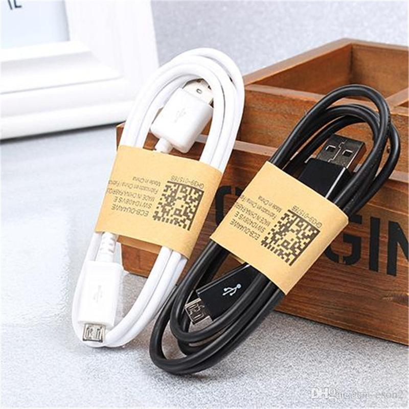 2 em 1 Carregador de parede Kits UE US 5V 2A parede Carregadores Adapter Início Carregador + 1M três pés Micro cabo USB com pacote de varejo Para Samsung S6 S7