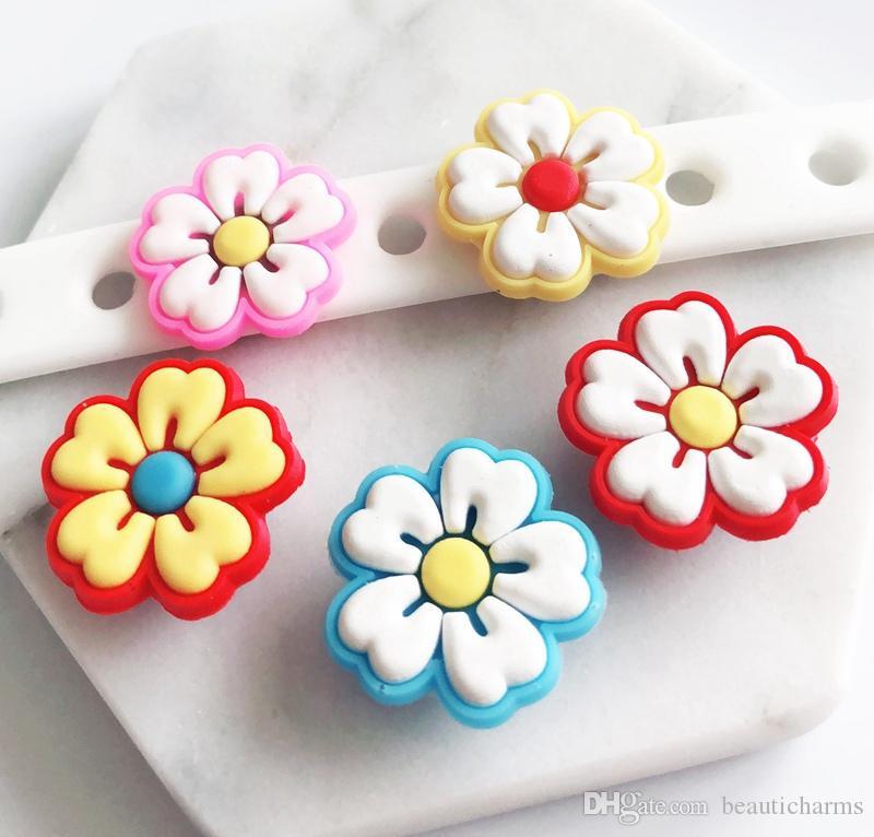 e0c7c60134316 10PCS PVC Flower Shoe Charms Soft decoration Fit Kid s Cross Shoes, Cross  Bracelets, Shoe Accessories, Children gift