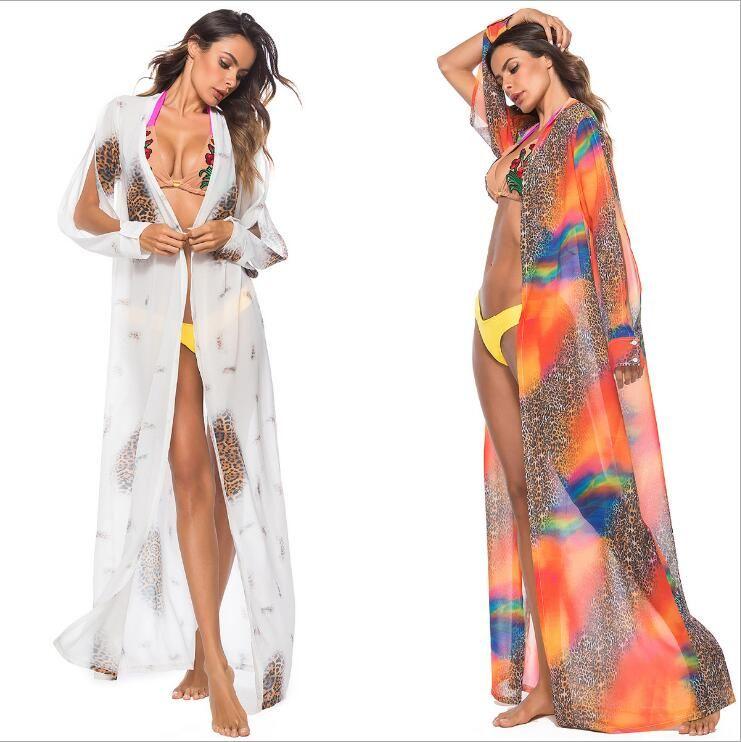 32e7077bbe Women Swimsuits Beach Cover up Sexy Long Chiffon Bikini Cover ups Swimwear  Coverups Beachwear Plus Size