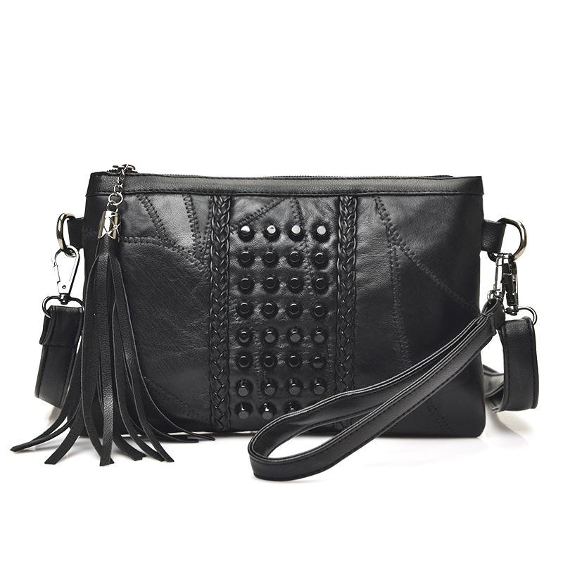Fashion Bags Fashion Tassel  S Bags Luxury Fringed Handbags Genuine Leather  Women Messenger Bag For Girls Crossbody Bag Females Clutches Handbags On  Sale ... 8bfd41b6b0f5a