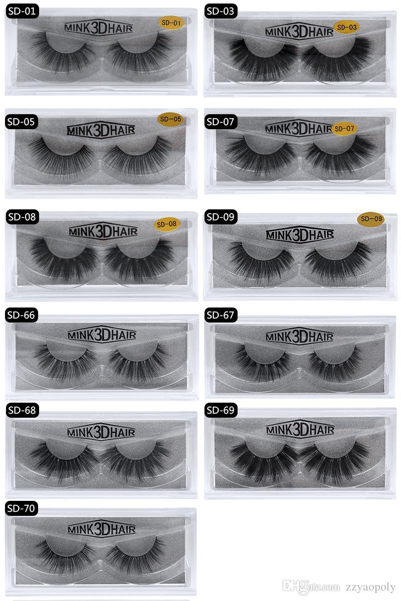 56ef7357b90 Eyelashes 3D FAUX Mink Eyelashes Private Logo Mink Lashes Black ...