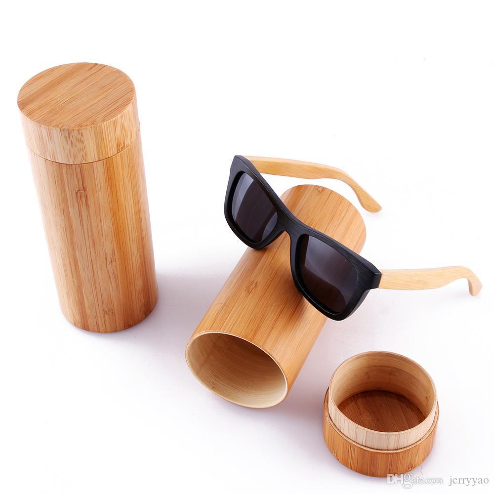 2019 Мода Мужчины Солнцезащитные очки Изготовленные на заказ Деревянные Бамбуковые Солнцезащитные Очки Квадратный Пилот Oculos Feminino De Sol Поляризованные солнцезащитные очки