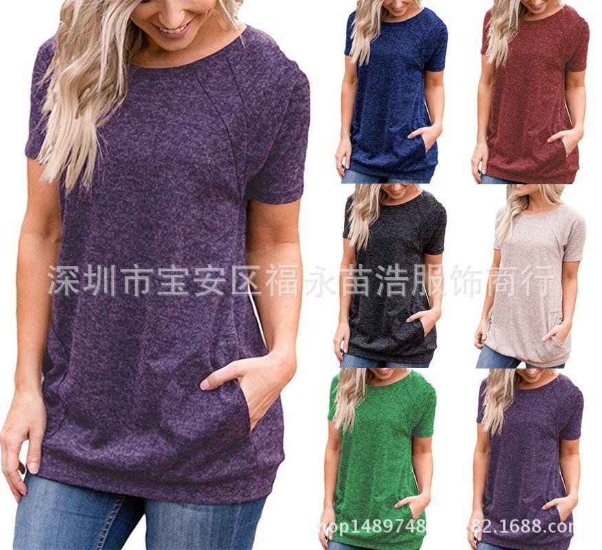 d9870767dee0 Acquista T Shirt A Maniche Lunghe T Shirt Da Donna T Shirt Da Donna  Pullover Premaman Moda Casual Autunno Inverno Design T Shirt 2018 Nuovo A   7.72 Dal ...