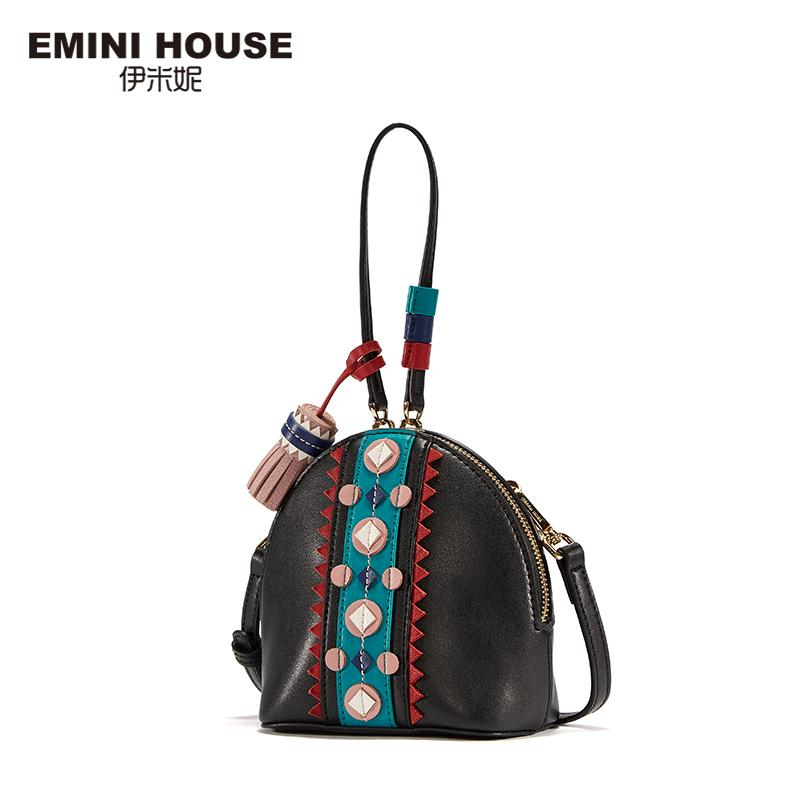 f5a0b7bc21 EMINI HOUSE Indian Style Mini Shell Bag Split Leather Tassel Shoulder Bag  Crossbody Bags For Women Fashion Lady Purse Crossbody Purses Wholesale  Handbags ...