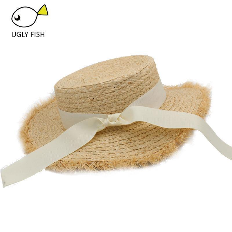 Hat Womens Summer Adult Solid Casual Straw Sun Beach Hat Summer Hats ... f8f84dd23023