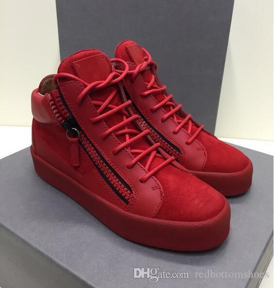 En gros de luxe italien tout nouveau designer hommes chaussures en cuir formateurs