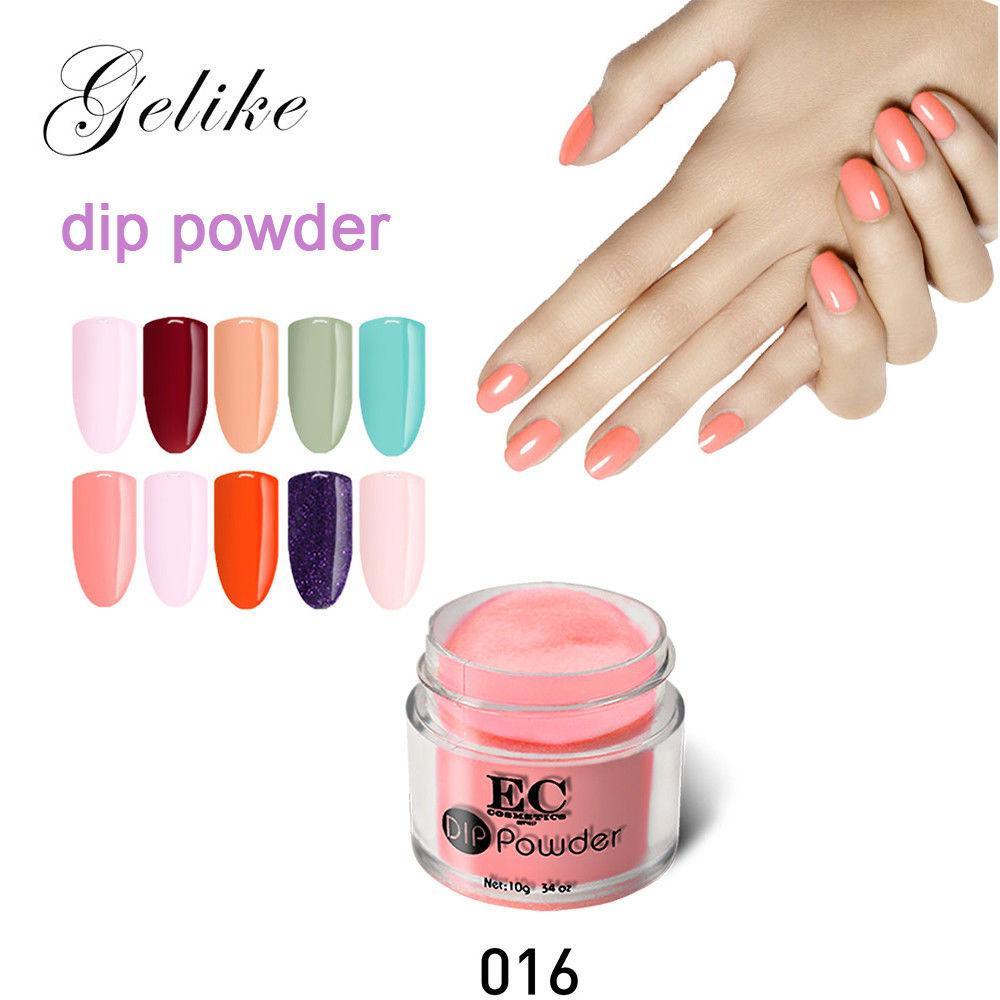 Gelike Dipping Powder Without Lamp Cure Nails Dip Powder Natural Dry Long Lasting Than Uv Nail Gel Polish 10g 10ml