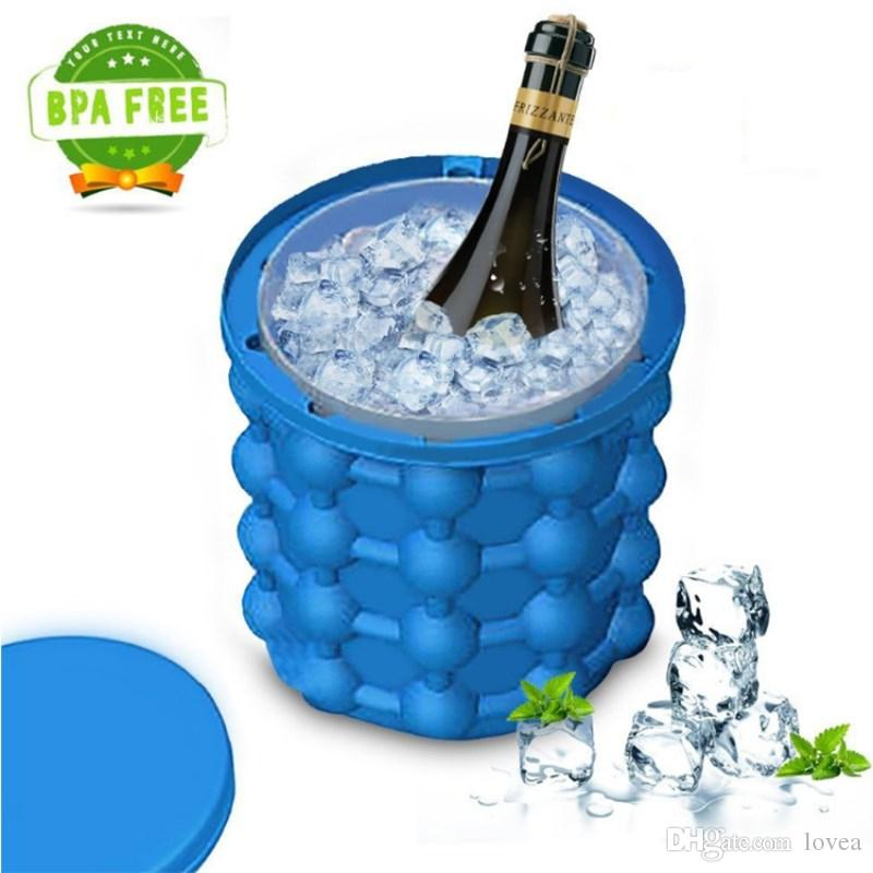 Ice Cube Maker Genie Silicon Ice Cube Mold Trays Upgraded Space New Ice  Cube Maker Genie silicone bucket The Revolutionary Space Saving