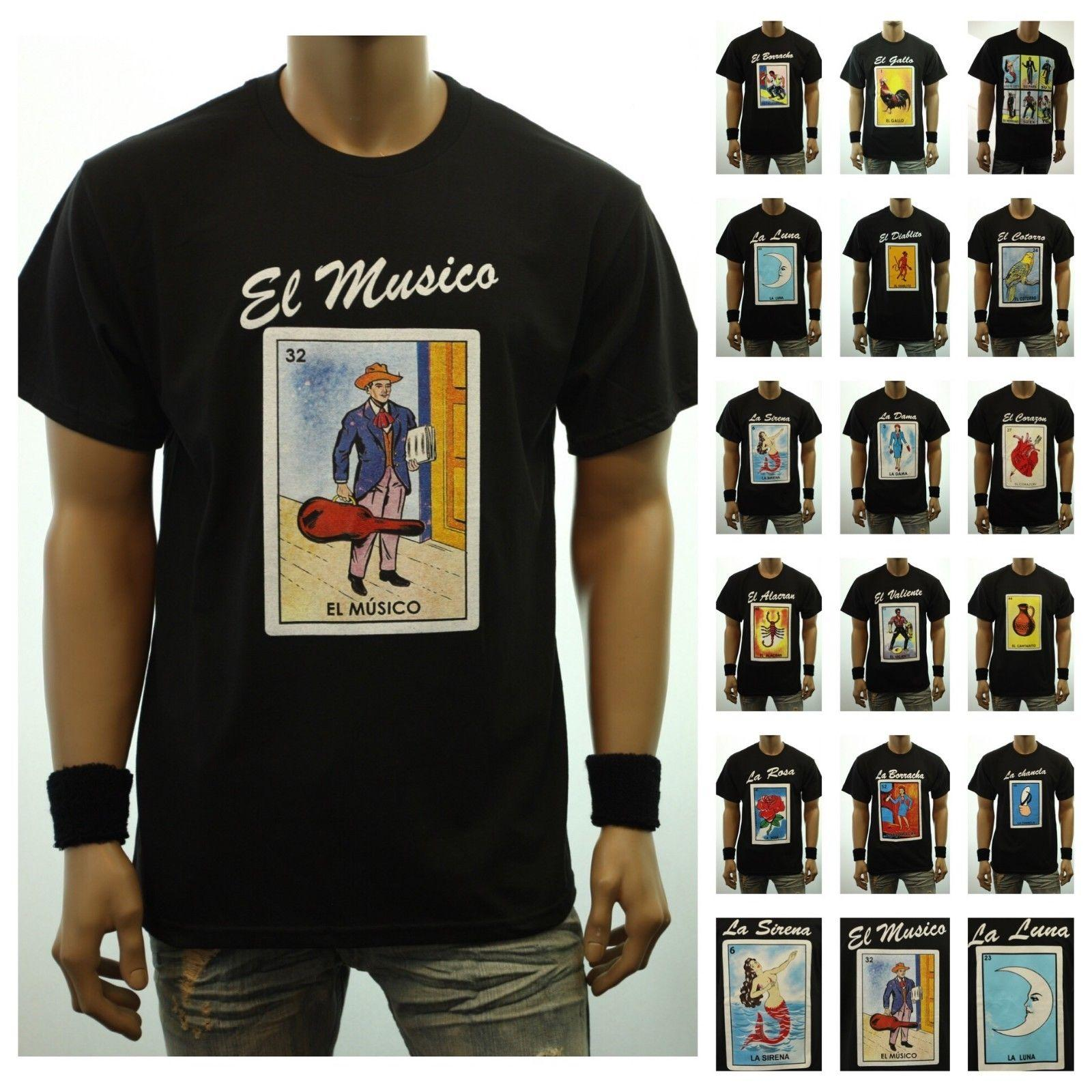 8f2ef2f9 Graphic T Shirt LOTERIA Borracho Mexico Funny Spanish Card Game Printed Tee  Cool Tee Shirts Cool Tees From Capoclothing42, $11.58| DHgate.Com