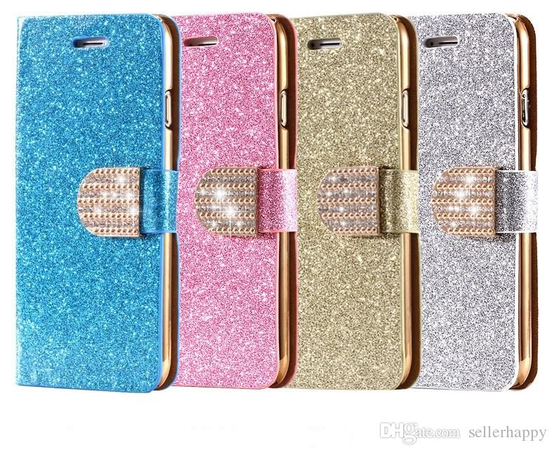 i6 6s plus 7 7plus stand wallet cover fashion bling glitter diamond