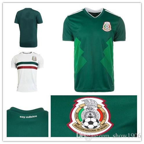 91e7f1ddad0 2019 2018 World Cup Mexico Soccer Jerseys H. LOZANO G. DOS SANTOS A.  Guardado CHICHARITO R. JIMENEZ H. HERRERR Home Green White Football Shirt  From Show1906 ...