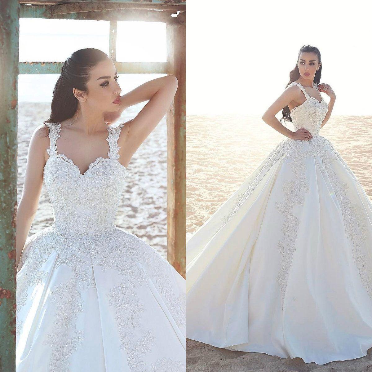 Discount Said Mhamad 2018 Wedding Dress Lace Straps Major Beading