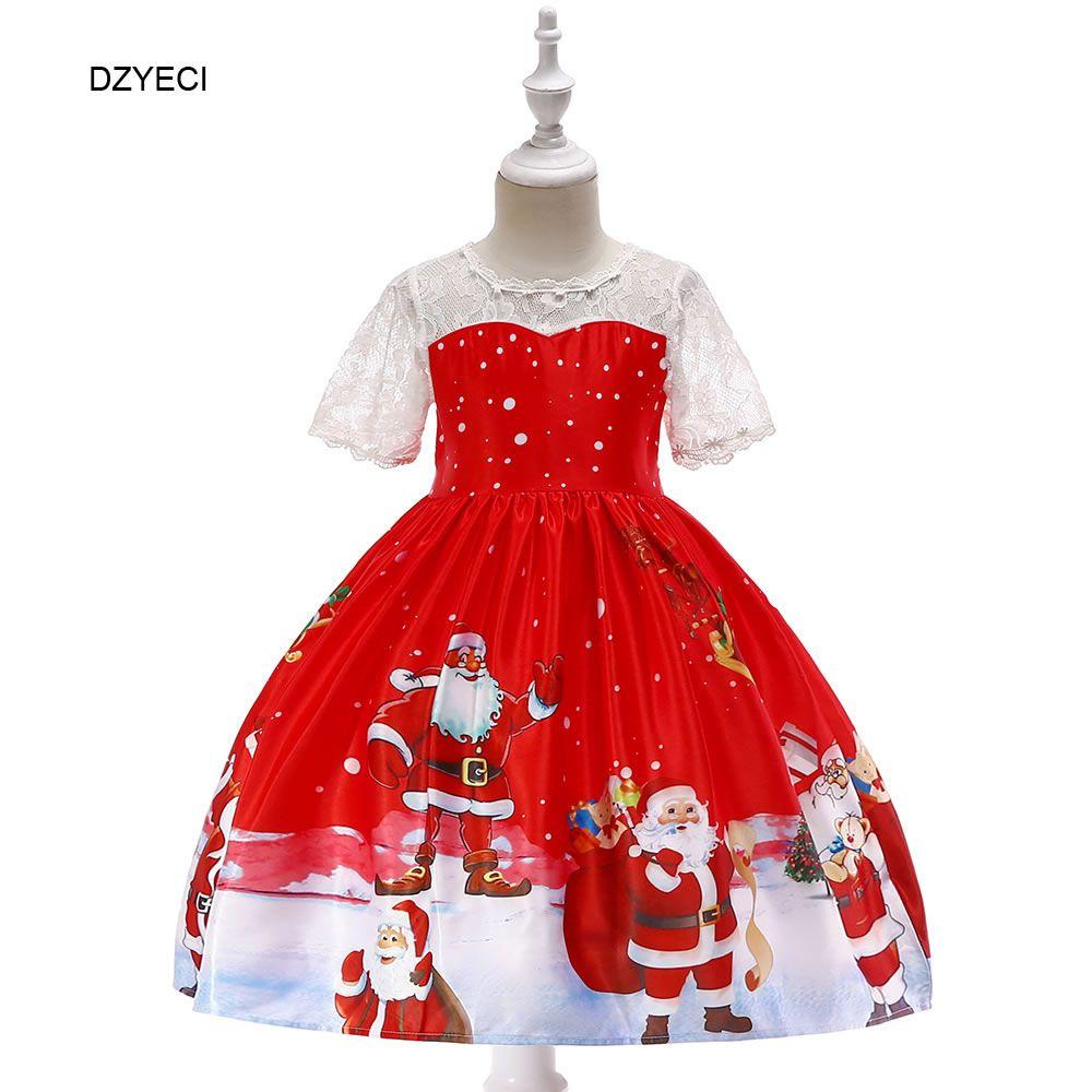 b8b4ff07d1506 Acheter De Noël Santa Costume Pour Bébé Fille Robes Nouvel An Carnaval Kid  Print Party Anniversaire Princesse Robe Célébration Enfants Cérémonie  Vêtements ...