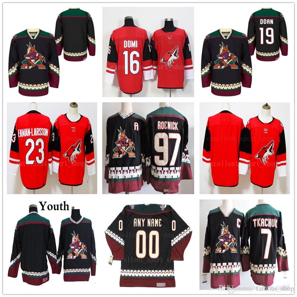 ... italy 2019 vintage arizona coyotes hockey jerseys 19 shane doan 23  oliver ekman larsson 97 jeremy closeout mens phoenix ... bd936a407