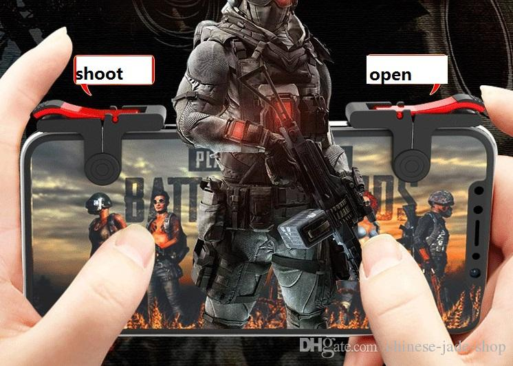 D9 Gaming Trigger Fire Button Aim Key Smart phone Mobile Games L1R1 Shooter Controller For PUBG Game