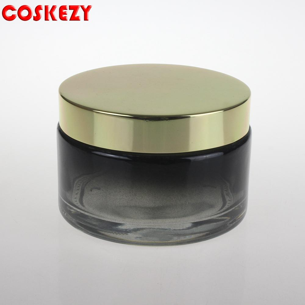 Large size in stock glass cream jar or eye cream for cosmetic packaging 200ml