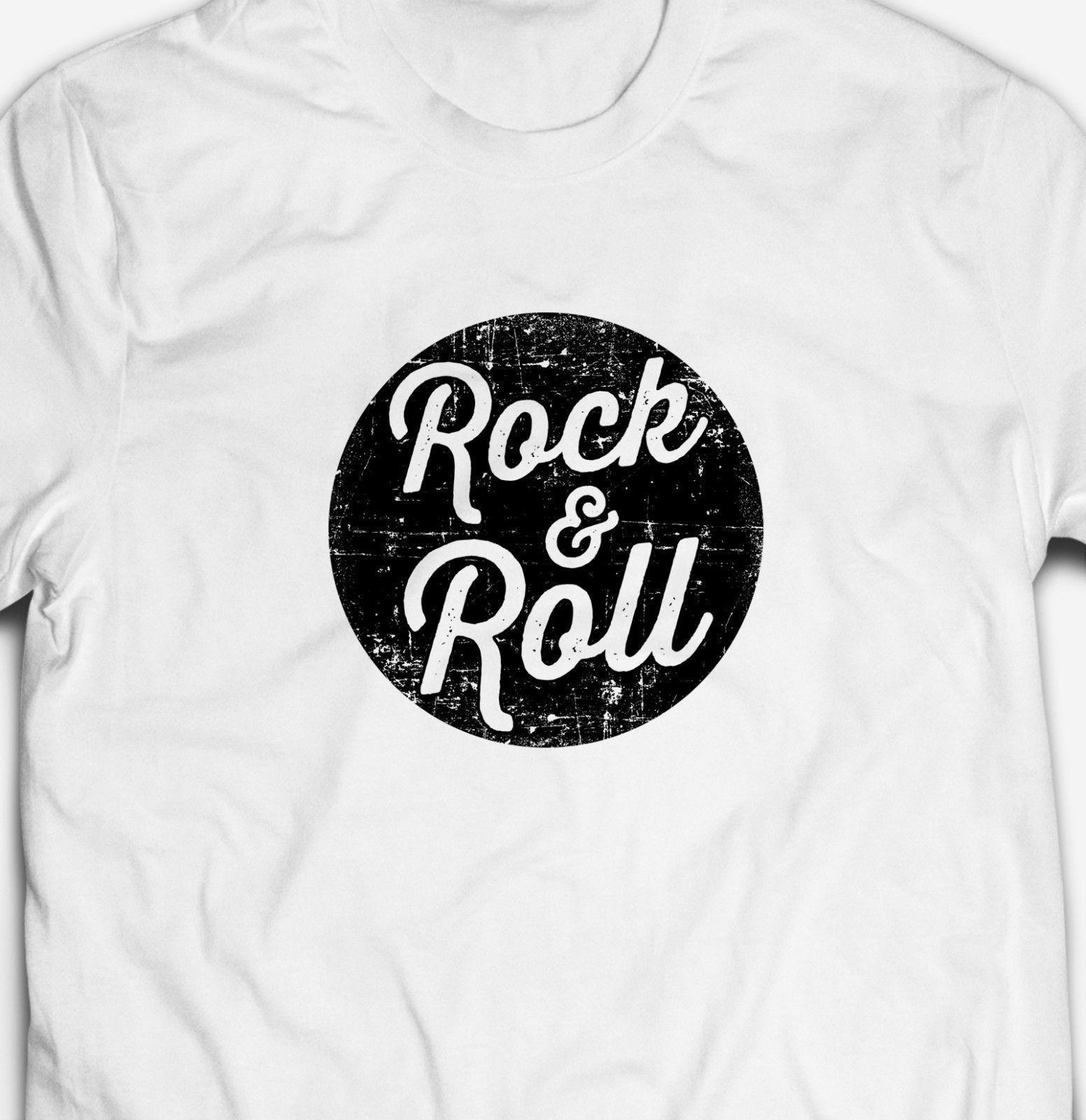 96e728f722 Compre RETRO ROCHA E ROLO GRUNGE SINAL DE MÚSICA Mens Fit 100% Algodão T  Shirt T Shirt Engraçado Frete Grátis T Casual De Fatcuckoo