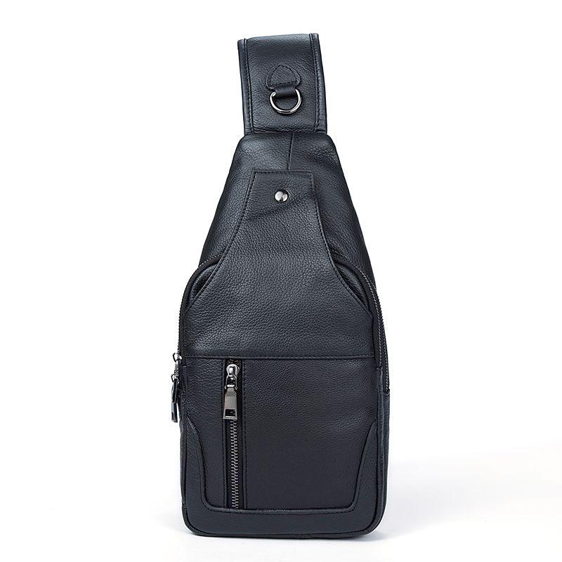 Genuine Leather Bag Strap Sling Men Chest Bag USB Men Messenger Bags Cell  Phone Leather Crossbody Shoulder Bags Man Wheeled Backpacks Cheap Bags From  ... 202d941632b8b