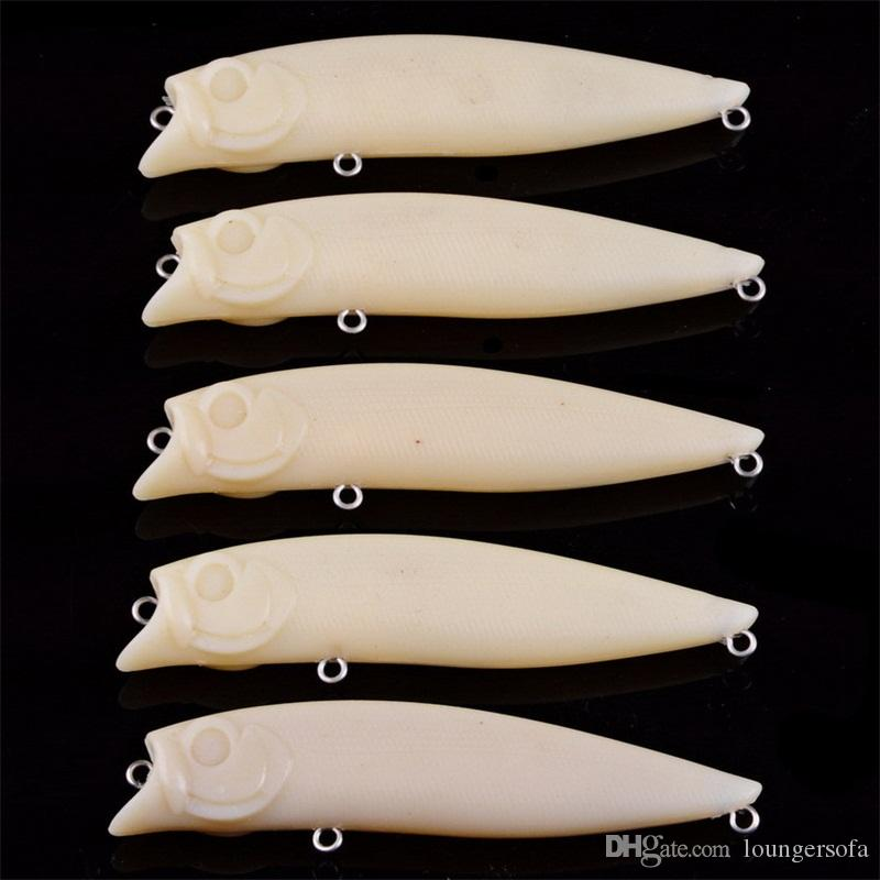 Embryoid Blank Fish Bait Body Unpainted DIY No Hook Hard Fake Lures Pure Color Self Painting Plastic Baits 1 3ay bZ