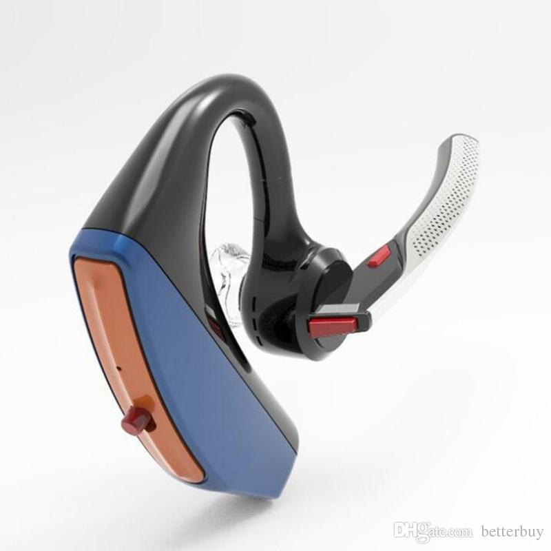 New Hot V15 Business Bluetooth Headset Wireless Handsfree Office Bluetooth Earphones Headphones with Mic Voice Control Noise Cancelling