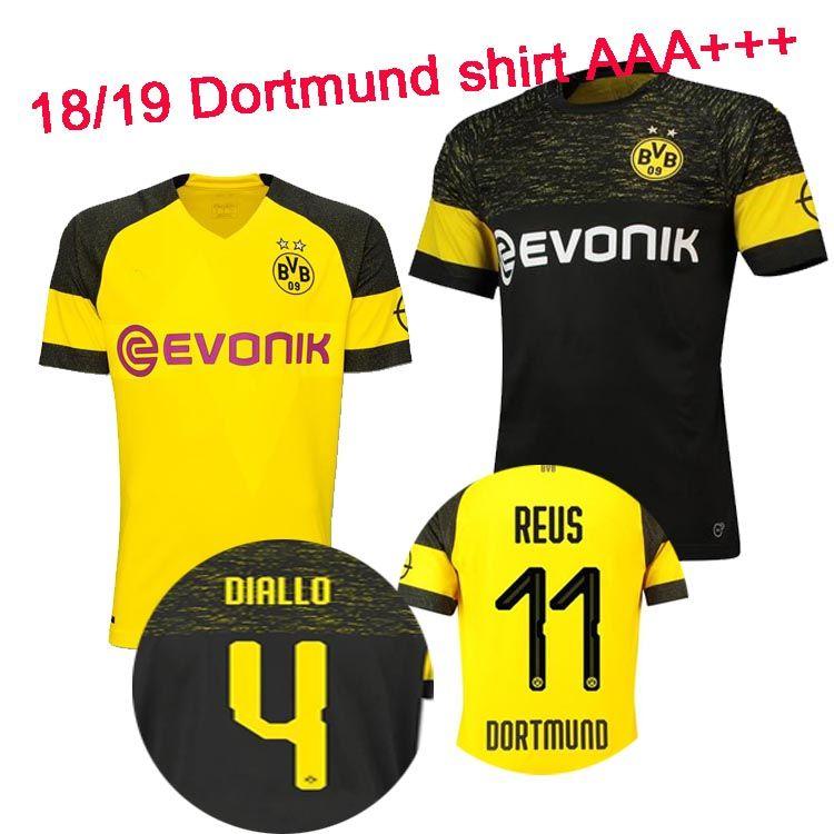 cheap for discount 330c0 32dfb Thailand AAA + 18 19 BVB Jersey Borussia Dortmund 2019 Shirt PHILIPP GOTZE  REUS PULISIC Jersey 18 19 ISAK KAGAWA Jersey camisa