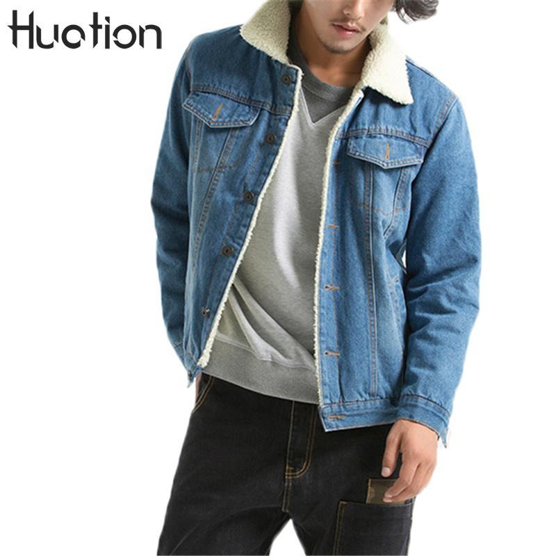 Huation Giacca Lana Calda Jeans Addensare Inverno 2017 Acquista Uomo 3lJTF1cK