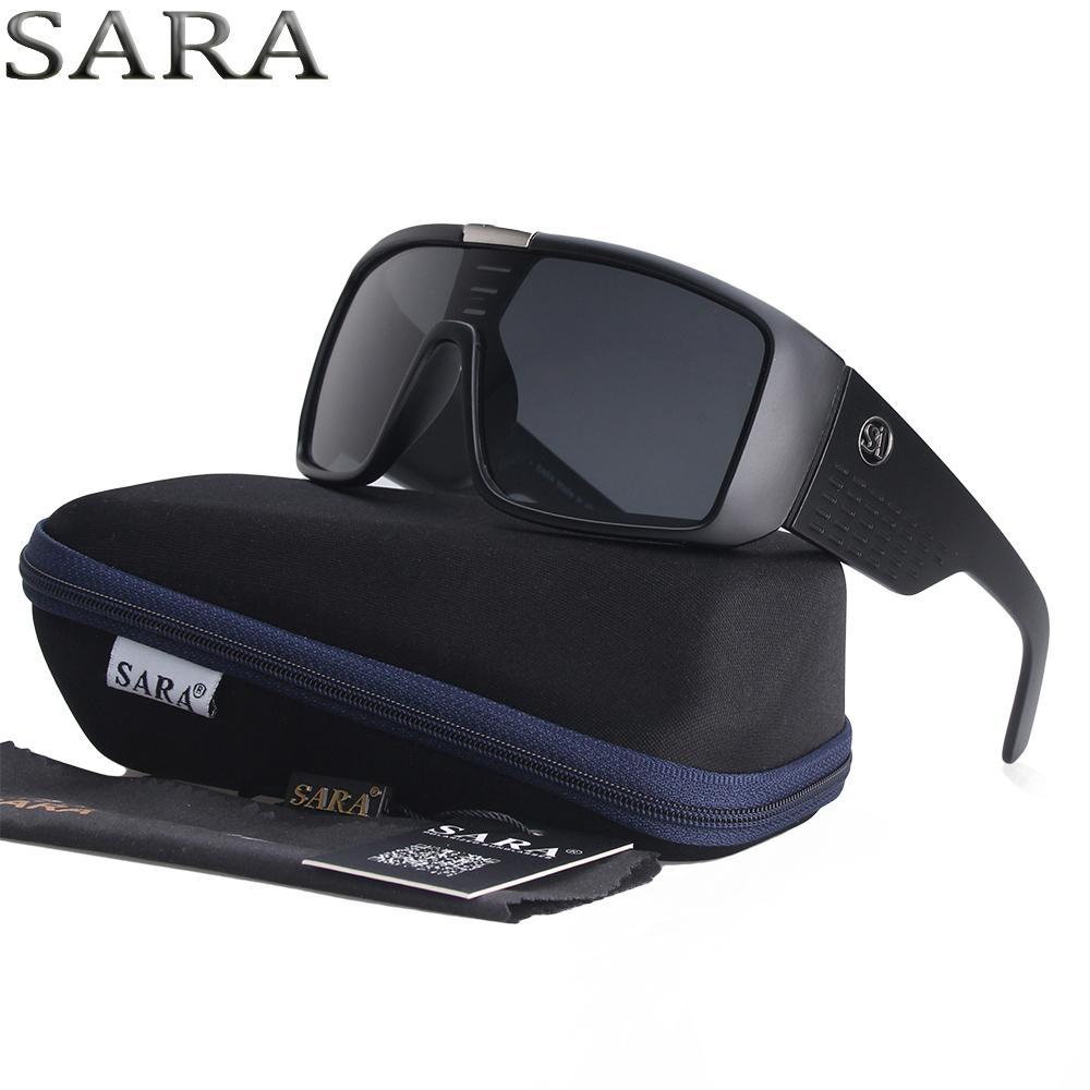 ac50fa5607 Compre SARA Vintage Dragon Sunglasses Hombres Gafas Deportivas Gafas De Sol  es Marco A Prueba De Viento Marco Steampunk Estuche Original Oculos Gafas  ...